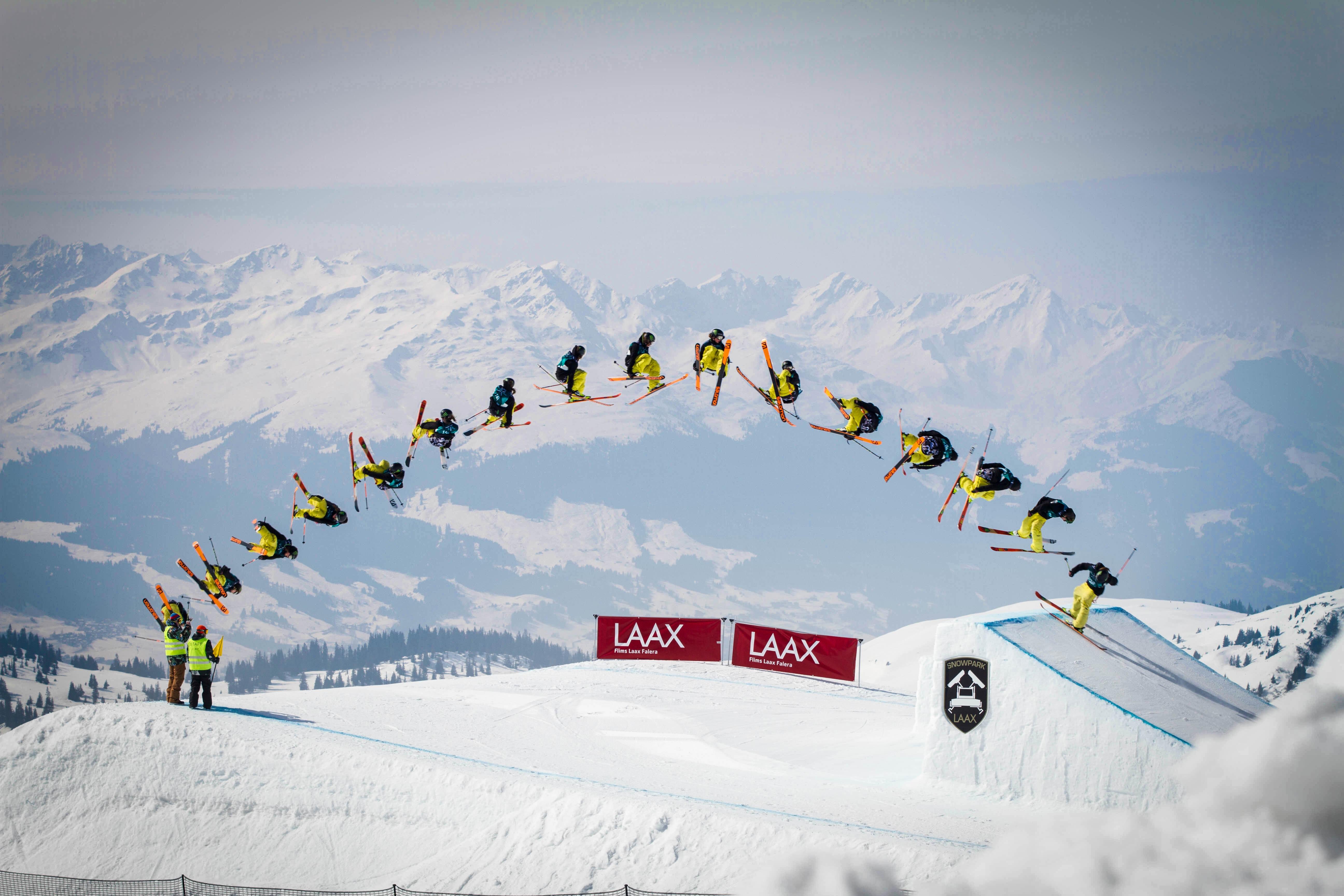 Et lag på skihopp.